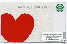 2012 Starbucks Card - Happy Valentine's Day - Large Red Heart