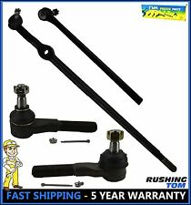 4 Pc Kit Front Left & Right Tie Rod Drag Link Ford Bronco F150 F250 F350