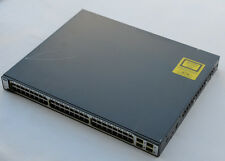 CISCO WS-C3750-48PS-S Switch 48xFE PoE 4xSFP Stackable w/racks - 1Yr Wty - Inv
