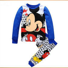 NEW Kids Baby Girls Mickey Minnie Mouse Hoodies Sweatshirt Coat Tops Outfits Set