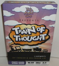 TRAIN OF THOUGHT PARTY WORD GAME - 2010 Tasty Minstrel Games NEW! Card