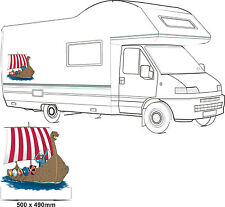 MOTORHOME VINYL GRAPHICS STICKERS DECAL CAMPER VAN RV CARAVAN HORSEBOX 50cmx49cm