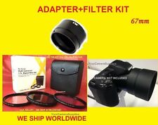 LENS ADAPTER To CAMERA NIKON COOLPIX L340 L 340 + FILTER KIT UV CPL FL-D 67mm