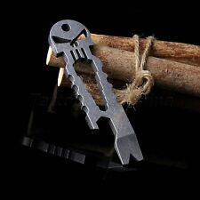 EDC Skull Bottle Opener Outdoor Survival Self Defense Pocket Multi Tool New