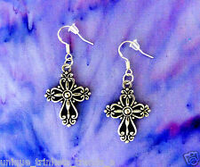BUY 3 GET 1 FREE~SILVER CROSS EARRINGS~MOTHERS DAY GIFT FOR HER MOM GRANDMOTHER