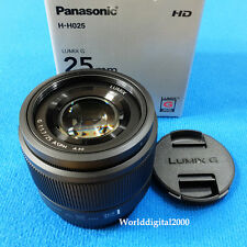 PANASONIC LUMIX G 25mm  F1.7 Lens H-H025 -Color:Black- For Micro Four Thirds