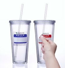 Cupture® Classic Insulated Double Wall Tumbler Cup with Lid, Reusable Straw NEW