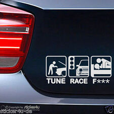 (316) FUn Sticker Aufkleber / Tune Race F*** VW Golf 2  GTI Stickerbomb