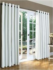 New Thermal Insulated Grommet Curtains Drapes 160X84 White  2 Panels FREE SHIP!