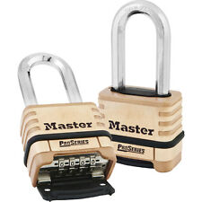 "Master Lock 1175LH Resettable Pro Series Combination Padlock, 2-1/16"" Shackle"