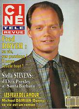 CINE REVUE 1990 N°14 fred dryer faye dunaway michael damian stella stevens