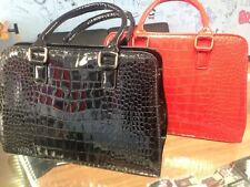 Women Handbag Shoulder Bags Tote Purse PU Leather BLACK OR RED