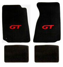 1994-2004 Ford Mustang 4pc Black Front & Rear Floor Mats with Red GT Logo