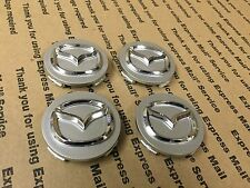 NEW MAZDA SET OF 4 CENTER WHEEL WHEELS RIM RIMS CAP CAPS G22C37190A 56MM GRAY