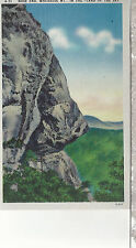 Nose End  Whiteside Mountain  Land Of The Sky   Unused Linen Postcard 12034