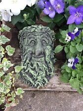 GREEN MAN   WALL PLAQUE FROST PROOF STONE GARDEN ORNAMENT Christmas Gift