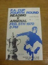 05/02/1972 Reading v Arsenal [FA Cup] (Attendance Noted On Cover & Team Changes)
