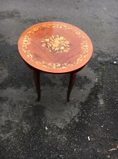 Vintage 1970s Reuge Italian Inlay Musical Table