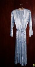 NWOT JONES NEW YORK Blue Silky Long Sleeve Floral Womens Maxi Robe Size XS/S