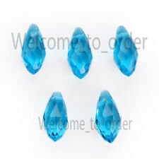 10 pcs Charms Faceted Glass Teardrop Pendant Earring Finding Loose Spacer Beads