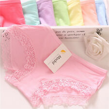 5pcs/lot Sexy Cotton Modal lingerie panties lace one size women underwear