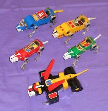 vintage PANOSH PLACE VOLTRON LION LOT x5 black yellow green red blue