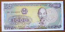 Vietnam 1988 One Thousand 1000 Vietnamese Dong Paper Money Banknote P#102 UNC