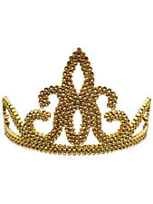 Tiara Gold Princess Crown Fancy Dress Queen Fairytale Girls Womens Kids Angles