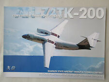 2002 DOCUMENT 1 PAGE RECTO VERSO ANTONOV AN-74TK-200 TRANSPORT AIRCRAFT