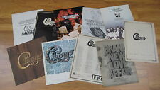 LOT 10 CHICAGO vintage original magazine posters ad promo record LP CD 11x14.5