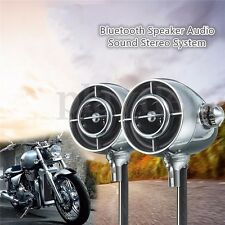 Motorcycle Chrome Bluetooth Speaker Audio Sound Stereo System Amplifier USB MP3