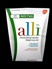 ~*~ALLI~*~Orlistat~120 Count Refill~AUTHENTIC--IN FACTORY SEALED BOX ~*~ALLI
