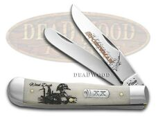 CASE XX Sportsman Series Wood Duck Natural Bone Trapper Stainless Pocket Knife