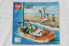 LEGO City Coast Guard Speed Boat 7726 Booklet 1 INSTRUCTION Book NO BRICKS