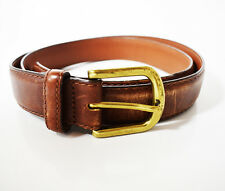 LL Bean Original Classic Mens Leather Belt Brown