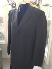Men's DKNY Essentials Charcoal Gray Pure New Wool Suit Jacket & Pants 34 x 32