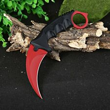 Hunting Karambit Knife CS GO Counter Strike Fighting Survival Tactical Camping