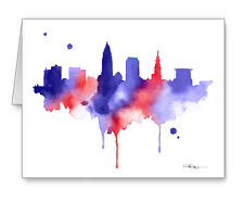 Cleveland Skyline Note Cards With Envelopes