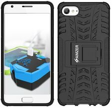 AMZER Dual Layer Hybrid Armor Warrior Case With Stand For Lenovo ZUK Z2 - Black