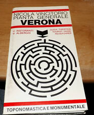 Vintage Italian Language VERONA Map assortment and Sight-seeing guide