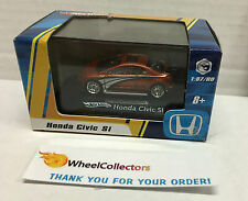 Hot Wheels * Honda Civic Si * ORANGE * 1/87 Scale in Acrylic Case * N134