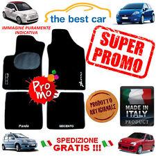 Tappetini personalizzati per Fiat 500L nuova con battitacco e 4 scritte ricamate
