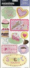 SWEET SHOP (11) Chipboard Sticker Shapes scrapbooking 99 CENT SALE!