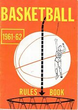 1961-62 National Federation of State High Schools Basketball Rules Book ~ VG