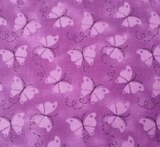 """1 yd 6"""" Charms Patty Reed Fabric Traditions Tonal Purple Butterflies"""