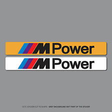 Sku2534-BMW M POWER TARGA DEALER LOGO ADESIVI COPERCHIO - 140mm x 18 mm