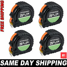 4x New Pittsburgh 25 ft. 1-Inch QuikFind Tape Measure Retractable w ABS SAME DAY