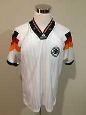 Vintage 90's Germany Deutschland Adidas Football Shirt Soccer Jersey Sz Large