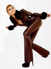 Jean Claude Jitrois Stretch Leather Pants Jeans sz 36 US 6 PIKA