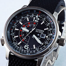 NUOVO STUPENDO CITIZEN PROMASTER ECO-DRIVE SPORT PILOT GMT DUAL TIME WATCH UOMO